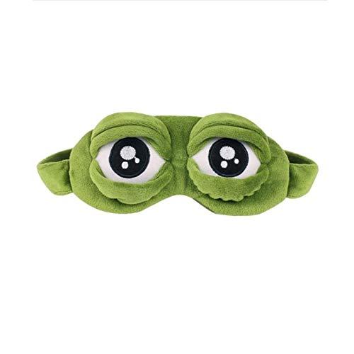 HJKND Lovely Frogs Eyes Máscara de Ojos para Dormir Vendaje elástico Cubierta de Visera Parche para los Ojos Vendas para los Ojos de Vuelo Viajes Oficina Noche de sueño
