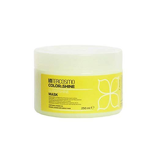 INTERCOSMO Color&Shine SUPERSHINE Mascarilla Nutritiva 250 ml Semillas de Lino [ 8007376018457 ]