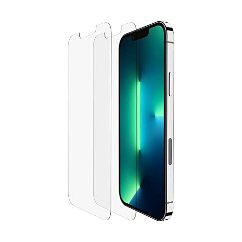 Belkin iPhone13& iPhone13Pro 2er-Pack Bildschirmschutz TemperedGlass, einfache, blasenfreie Anbringung mit den enthaltenen Aufklebern