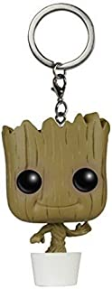 JPTACTICAL Heros in Guardians of The Galaxy Bobble Head Action Figures Pocket Keychain - Star Lord, Rocket, Groot (Groot)