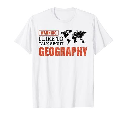 Mi piace parlare di geografia Regalo per l'insegnante Maglietta