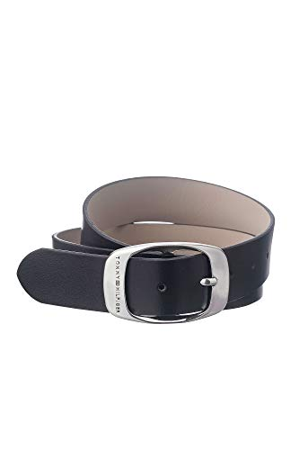 Tommy Hilfiger Damengürtel SM MARIE Belt Schwarz AW0AW01001-002 Jeansgürtel Jeans Leder Gürtel Ledergürtel 95 cm