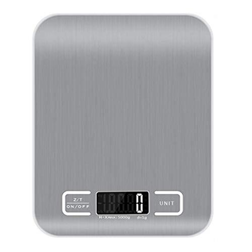 RUIXFFT Leicht Bluetooth Küchenwaage, Digitale Küchenwaage Edelstahl 5KG mit Hochsensiblem LCD Display, Tara-Funktion Mit Mobiltelefon Verbindbar Dauerhaft