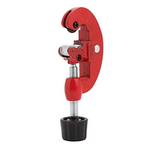 Cortador de tubos de metal, herramienta de corte de tubos de acero y cobre portátil para tubos de metal(rojo)
