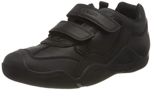 Geox JR Wader A, School Uniform Shoe, Negro, 37 EU
