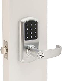 Prodigy SmartLock Commercial Grade Cylindrical Lock 4000 with Keyless Entry RFID (Right Hand, Satin Chrome)