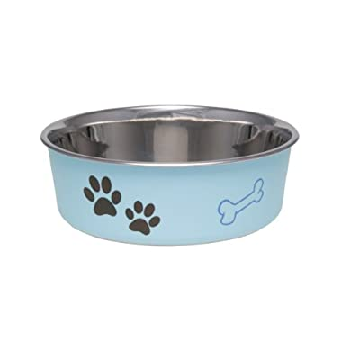 Loving Pets Bella Bowl for Dogs, Medium, Murano Blue