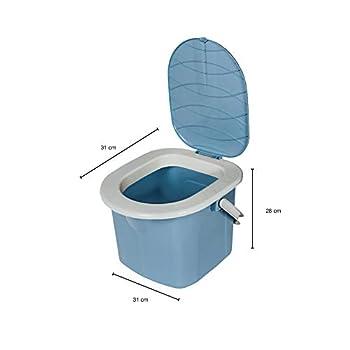 BranQ 1306 Toilettes de camping Gris Taille M, Fille, 1305, bleu clair, 15,5l