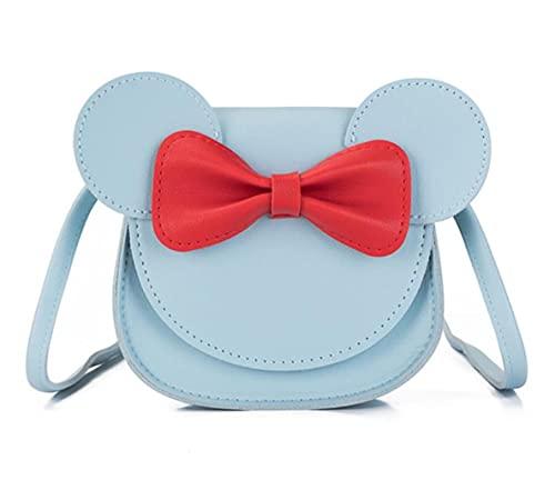 Bolsos pequeños para niñas pequeñas, bolsa cruzada con lazo, para niños, niñas, Halloween, fiesta de Navidad, juego de simulación, linda bolsa de mano con orejas de ratón