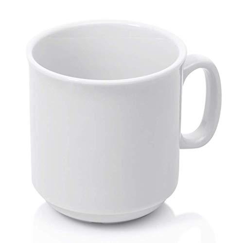 Gastro Spirit - 12-er Set Kaffee-Becher/Kaffee-Tassen - 300 ml, Porzellan, Stapelbar, Spülmaschinenfest, 6 Setgrößen (6, 12, 18, 24, 30, 36) - Hoteltassen, Teetassen
