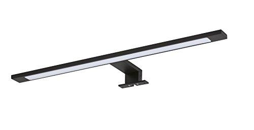 Tiger LED Badezimmerleuchte Ancis, Lampe zur Montage auf Spiegel Oder Spiegelschrank, Metall, Schwarz, 60 cm, 4000K (Neutralweiß), IP 44