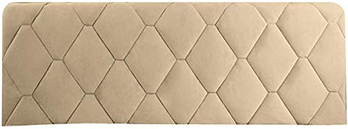 Headboard Cover Queen Size Dark Gray Bed Headboard Slipcover Protector with Stretch Side and Pocket Dustproof Cotton Cover for Twin Full King Bed Headboard,Camel-160 * 73CM
