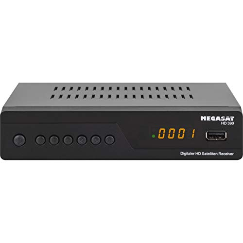 Megasat HD 390 DVB-S2 HD Sat Receiver schwarz | Unicable I & II tauglich