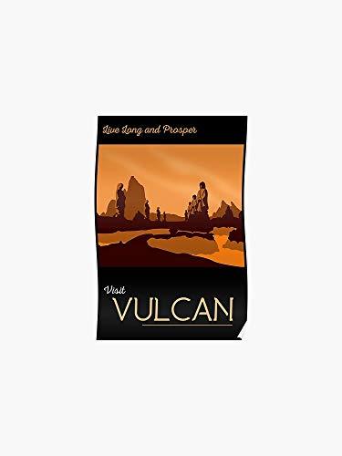Póster de viaje AZSTEEL Vulcan   póster sin marco para dec