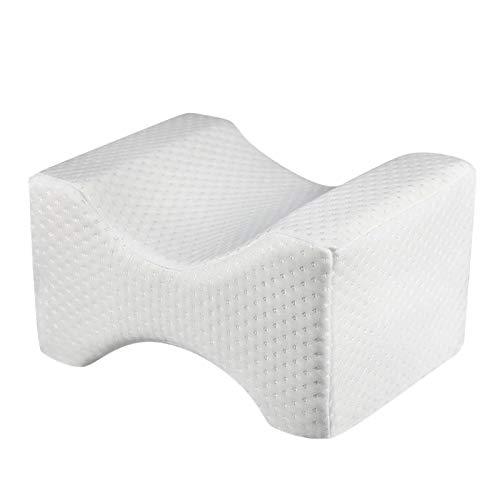 NKDD Memory Cotton Clip Almohada para piernas Cojín de cuña para piernas Dolor del nervio ciático Terapia de Rodilla Clip Almohada para piernas Blanco