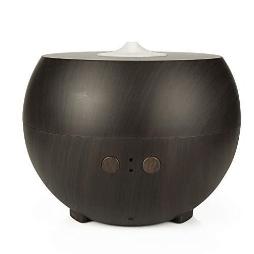 MQW - Humidificador de aceite esencial para aromaterapia (600 ml, aroma a granos de madera, difusor de aceites esenciales, silencioso, silencioso, silencioso, bajo ruido (color: marrón)