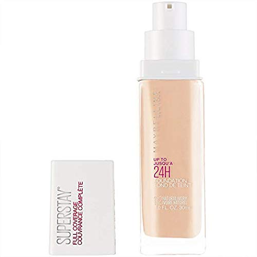 Maybelline Super Stay Full Coverage Liquid Foundation Makeup, Natural Ivory, 1 Fl Oz