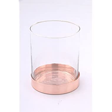 Alchemade High Qualiy Copper Glass Wide Plant Herb Flower Vase by