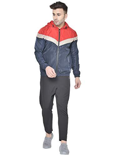 CHKOKKO Men Sports Zipper Running Track suit