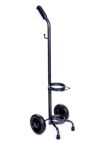 Medline HCS53006 Oxygen Cylinder Cart for D and E Tanks, Latex Free