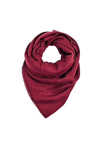ESPRIT Accessoires Damen 109Ea1Q003 Schal, Rot (Dark Red 610), One Size (Herstellergröße: 1SIZE)