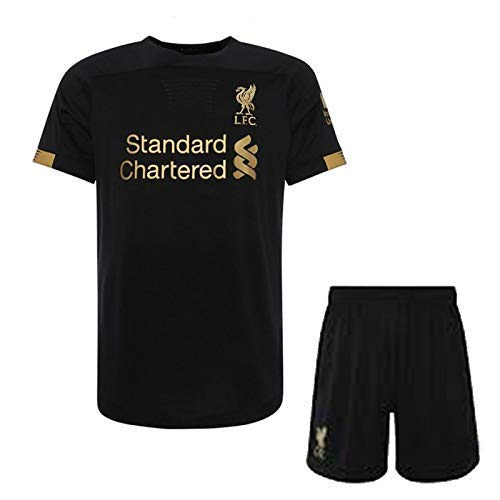 VENU Liverpool Goalkeeper Jersey 2019-2020 / Liverpool Football Jersey with Half Sleeves/Master Quality Jersey with Shorts/Imported Jersey for Football Lovers in Black & Golden Color (Small)