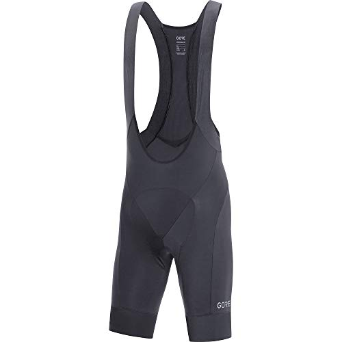 GORE WEAR C5 Men's Cycling Bib Shorts with Seat Insert, S, Black