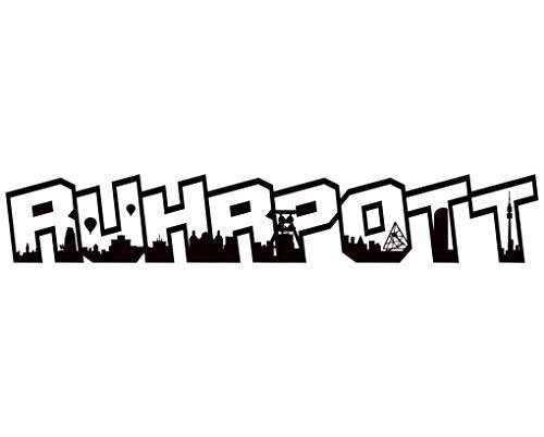 Samunshi® Wandtattoo Ruhrpott Schriftzug Skyline Wandsticker Ruhrpott schwarz 120x20cm