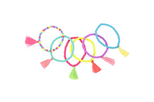 DISOK Pulsera Pompon Artemis (Precio Unitario) - Pulseras Infantiles para Niñas, Adolescentes, Cumpleaños, Recuerdos y Detalles Comuniones Bodas Niños. Pulseritas Juveniles Originales