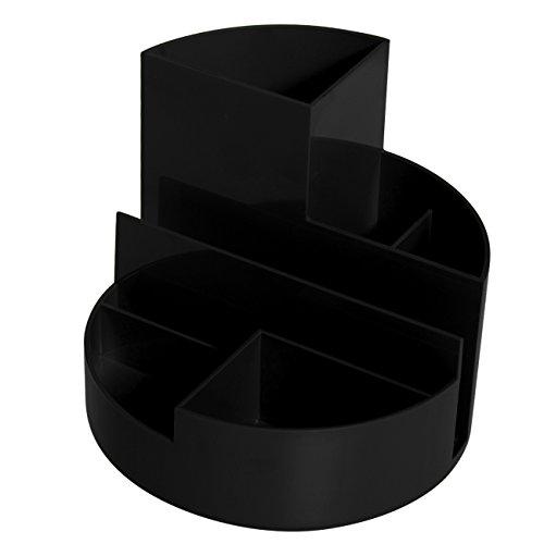 Maul Stifteköcher, Original Rundbox, 7 Fächer, Schwarz, 140x125mm (Ø x H), Hochglänzend, 4117690, 1 Stück