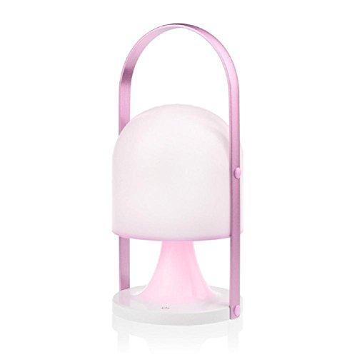 Lampes de bureau Lampe de Table Nordique minimaliste tactile LED de charge interrupteur trois lumière lampes portatives en plein air , pink