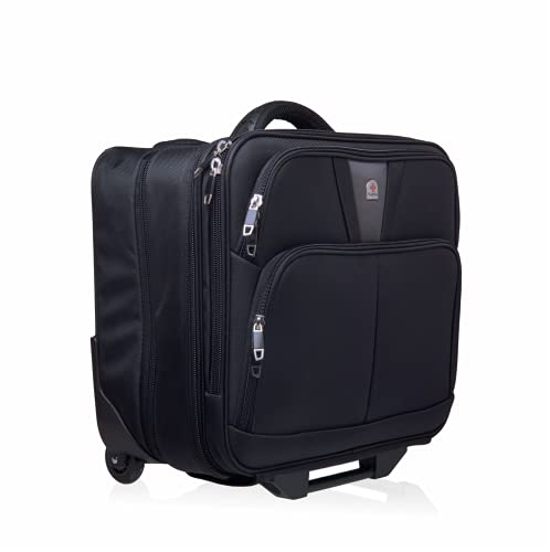 Wheeled Laptop Case with Overnight Compartment - Pilot Case with Laptop...