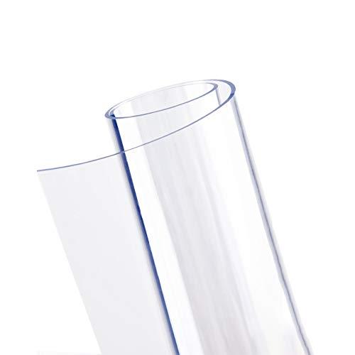 GHHZZQ Estera de Protección Suelo Transparente Durable PVC Cutable El Plastico Alfombrilla para Silla para Mascota Equipo de Entrenamiento Juguete, Personalizable (Color : 2.0mm, Size : 80x140cm)