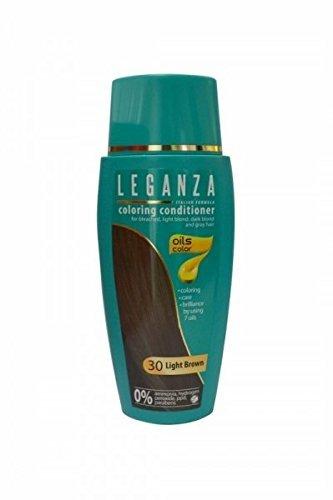 SPARSET 2 x Leganza Färbender Conditioner Farbe 30 Hellbraun Mit 7 natürlichen Ölen Ammoniak und Paraben frei