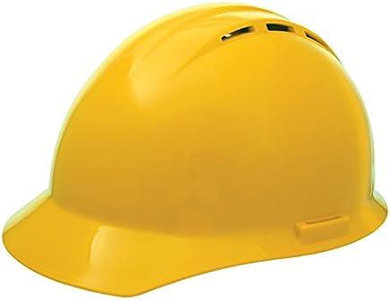 ERB 19252 Americana Vent Cap Style Hard Hat with Slide Lock, Yellow
