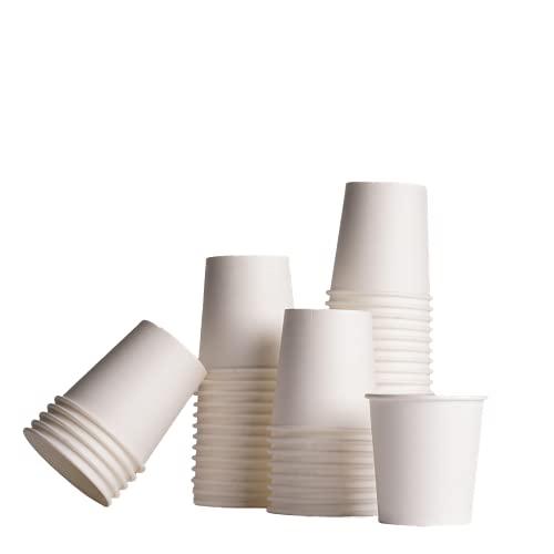 Cieffe 100 Bicchierini da Caffe in Carta, Kit Ufficio di Bicchieri Caffè Biodegradabili da 118 ML, Made in Italy