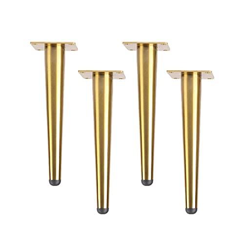 4 patas de acero inoxidable para muebles patas rectas cónicas para muebles que se utilizan en sofás gabinetes tocador guardarropas zapateros herrajes y accesorios para muebles (gold15cm / 5.9in)