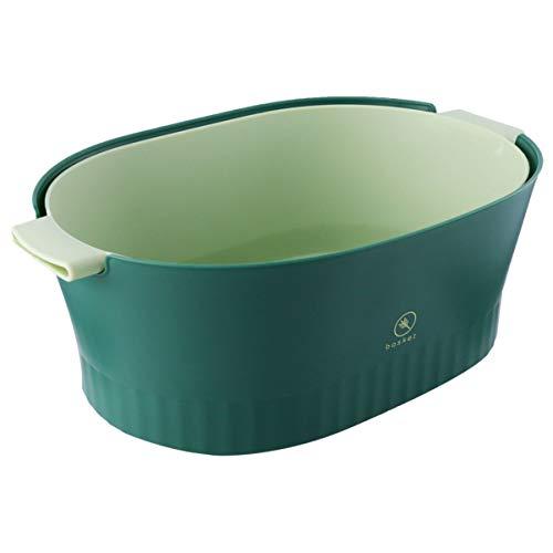 Cabilock - Colino da cucina, 2 in 1, in plastica, rimovibile, per verdure, tagliatelle e riso...