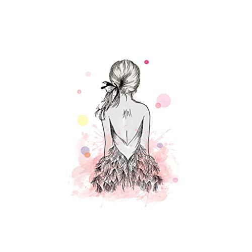 chenqiu Canvas Prints Wall Art Girl Series Family Decoration Pictures Paintings for Living Room Bedroom Bathroom Home Decorations Modern Stretched and Frameless Artwork