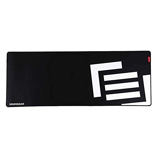 MAINGEAR Assist XL Gaming Mouse Pad, Water-Resistant Cloth Computer Keyboard Mouse Mat Extended Desk Pad for Games Office Esports, 35.43 x 13.78 x 0.12 Inch, Aspen (Black + White)