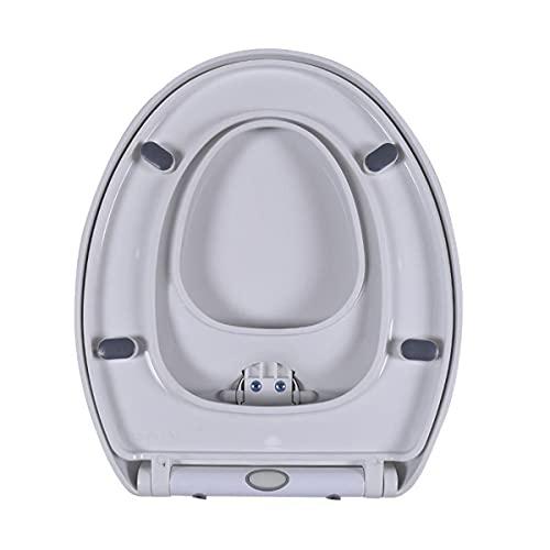 Asiento de inodoro construido en el asiento de los adolescentes, se puede cerrar lentamente, fácil de instalar, bisagras ajustables, liberación rápida, fácil de limpiar, adecuado para toda la familia.