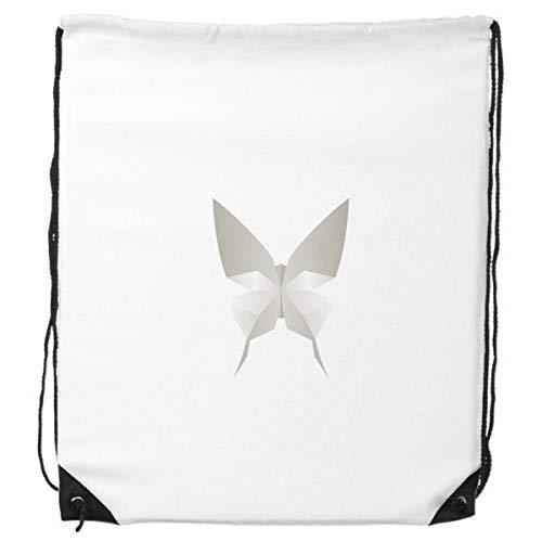 DIYthinker Mariposa Blanca de Origami Modelo Abstracto del morral del Lazo Compras Deportes Bolsas de Regalo