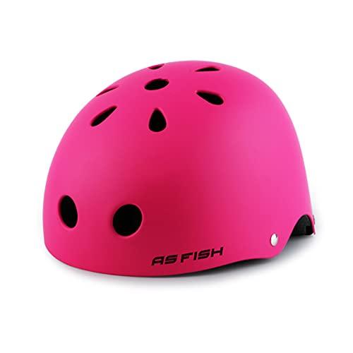 Zeroall Casco Bici Niños Helmet Infantil para 3-12 Años Niños Niñas, Casco Bicicleta Niños Ajustable 48-55cm para Bici Skate Skateboard Balance Bike Patineta Scooter(Rosa Mate S)