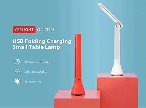 xiaomi mijia Yeelight - Lámpara de mesa led plegable con USB, regulable, color negro