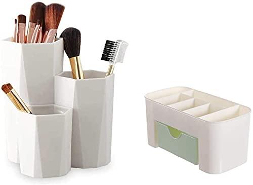Recet Joyero para mujer, caja de almacenamiento cosmética, organizador para esmalte de uñas, maquillaje, almacenamiento de maquillaje