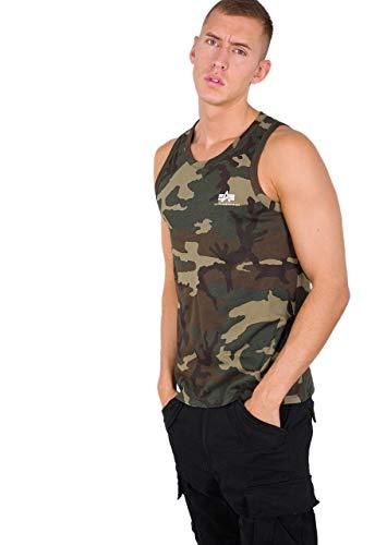 ALPHA INDUSTRIES Small Logo Tank Camiseta, wdl Camo 65, XL para Hombre