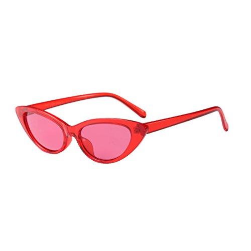Inlefen Gafas de sol pequeñas Vintage Retro Extra estrecho Ovalado Redondo Flaco Ojo de Gato Gafas de Sol Gafas