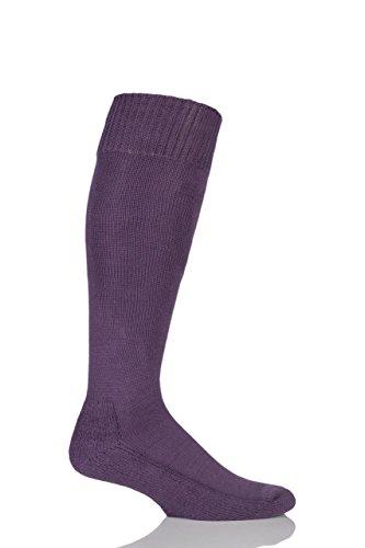 Herren & Damen 1 Paar SockShop von London Cotton Riding Socken mit Kissen Sole Raisin 12-14