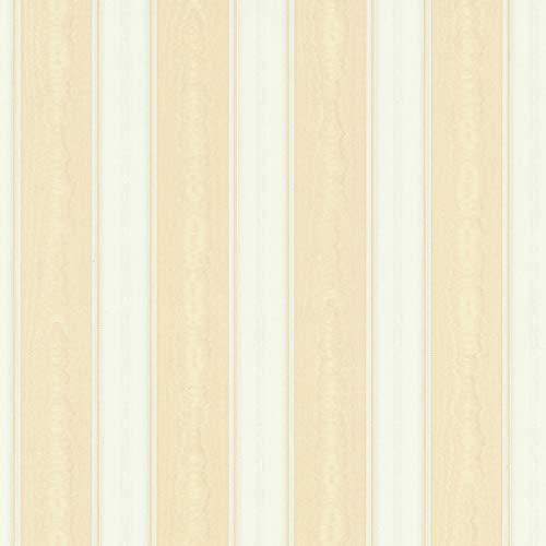 Papel pintado gofrado rayas de rayas beige blanco 765826 76582-6 A.S. Création Concerto 3 | beige/blanco | Rollo (10,05 x 0,53 m) = 5,33 m²