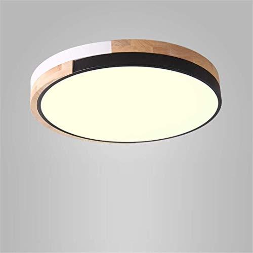 Thumby Plafond Licht Plafond Lampen Nordic Stijl Pure Hout Slaapkamer Lamp Zwart ronde Bruidskamer Creatieve Vreemde Nieuwe Led Plafond Lamp Eenvoudige Stijl Studie Kamer Lamp
